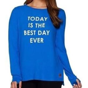 Peace Love World Affirm Comfy Knit Top